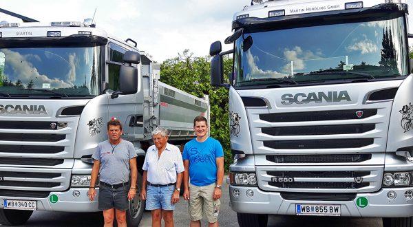 Transporte - 3 mal Martin Hendling mit 2 Scania LKW